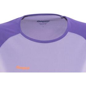 Bergans Slingsby Long Sleeve Ladies Soft Lavender/Funky Purple/Pumpkin
